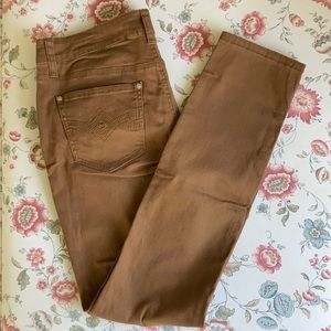 New Directions Brown Skinny Pants, Size 6